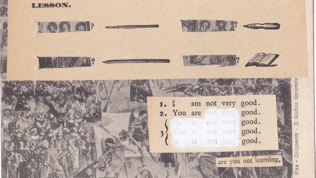 """Mothers Beauty Routine origins cut up dadaist william burroughs """"are you not learning"""", a collage made during this time"""