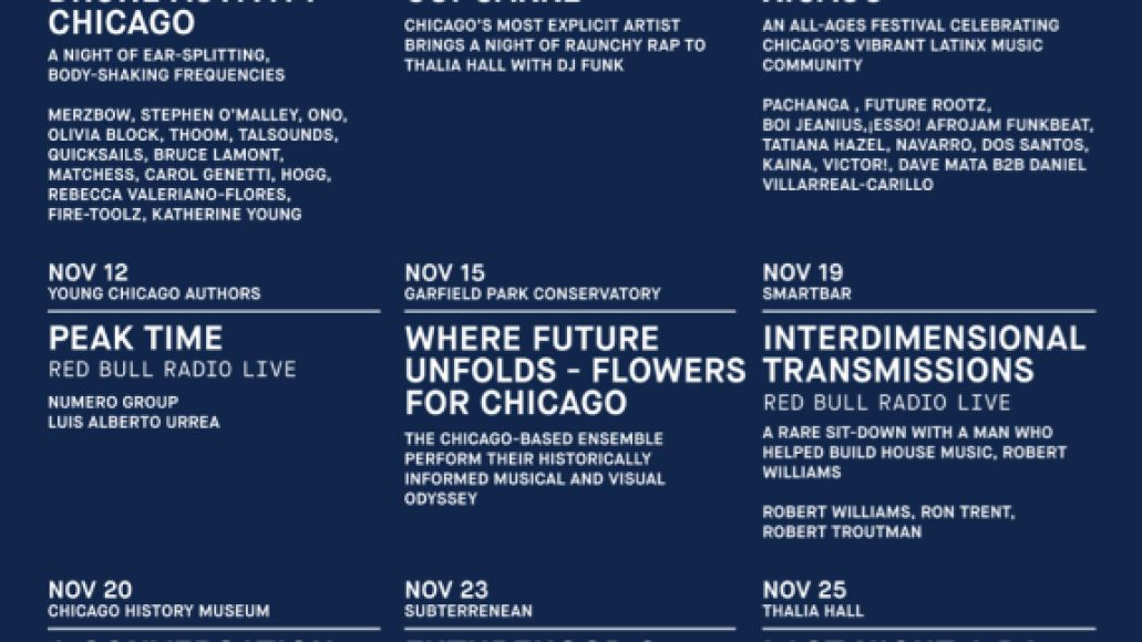 red bull 2018 Red Bull Music Festival Chicago takes over the Windy City this November