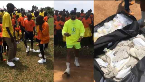 Kanye gifts Yeezys to African orphanage