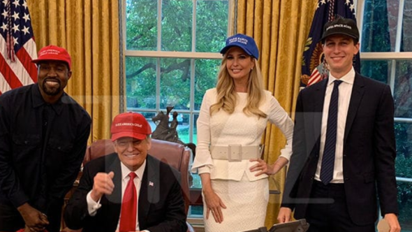 Kanye with the Trumps