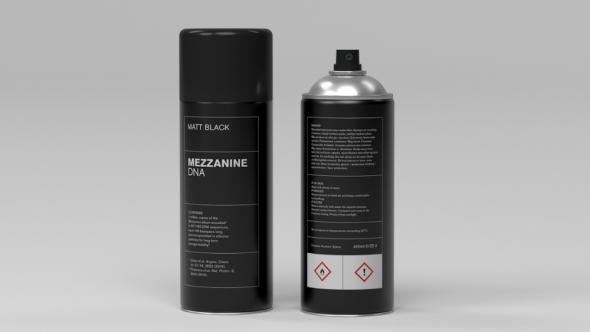 Massive Attack's Mezzanine as spray paint