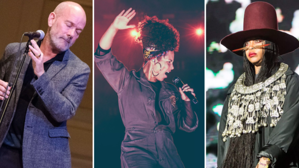 Michael Stipe REM Alicia Keys Erykah Badu Brett Kavanaugh Protest Concert Ben Kaye Kris Fuentes Cortes Philip Cosores
