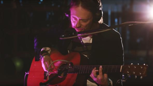 Thom Yorke performing at BBC Radio
