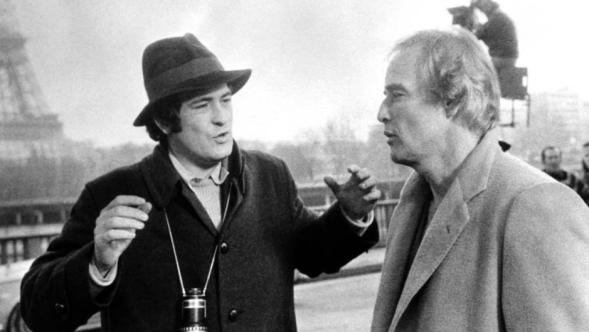 Bernardo Bertolucci with Marlon Brando