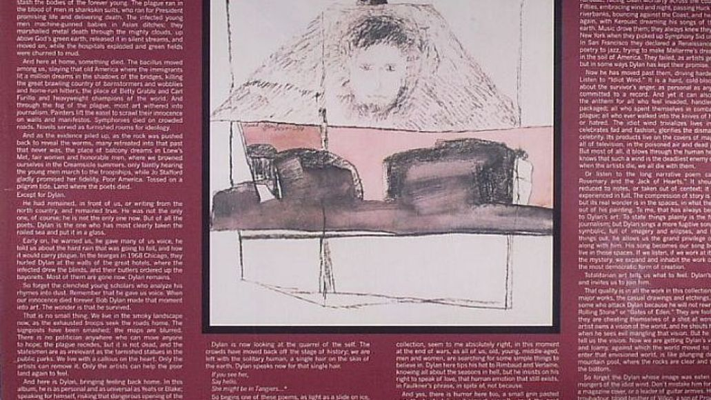Bob Dylan Blood on the Tracks Back Cover