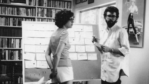 Gloria Katz with George Lucas