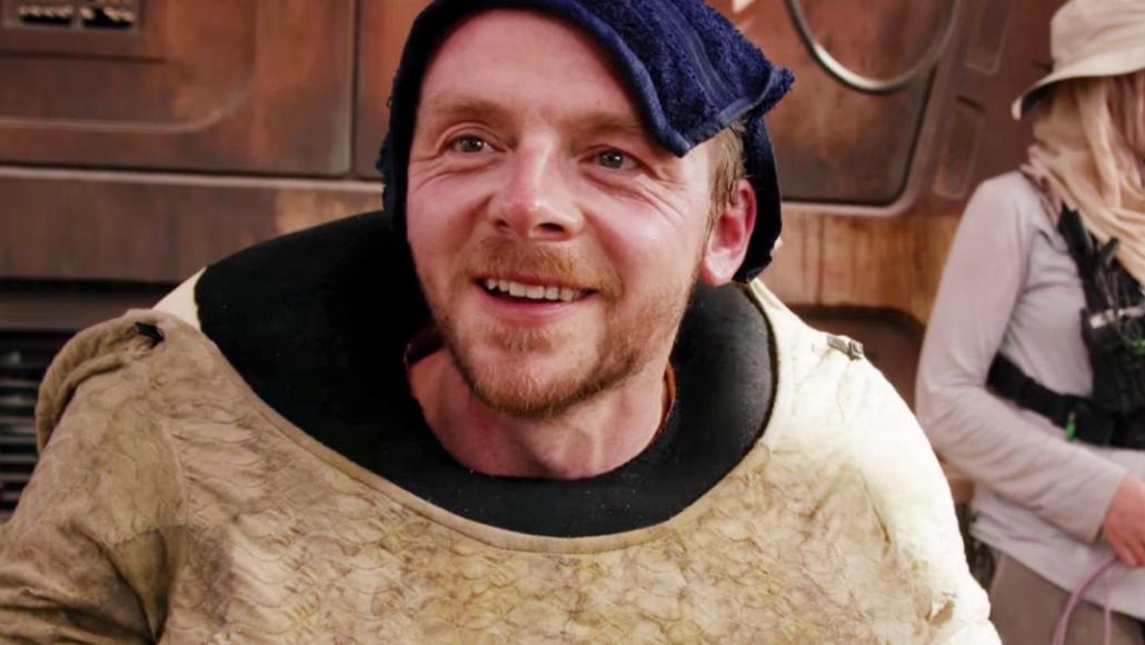 Simon Pegg in The Force Awakens