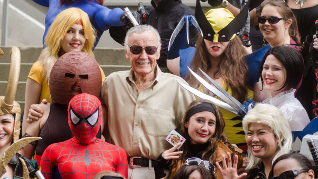 Stan Lee and CosPlay fans Kyle Nishioka