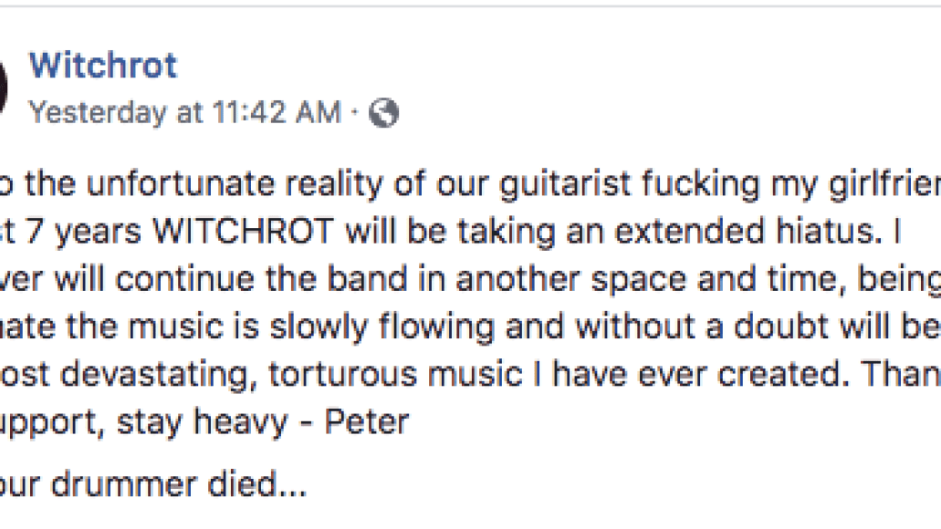witchrot band breakup