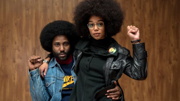 "David Washington and Laura Harrier, ""BlacKkKlansman"", Focus Features"