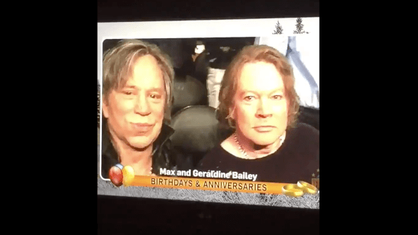 Axl Rose and Mickey Rourke