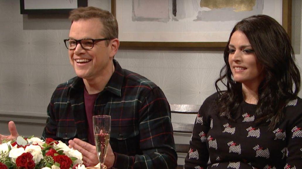 Matt Damon defends Weezer on SNL