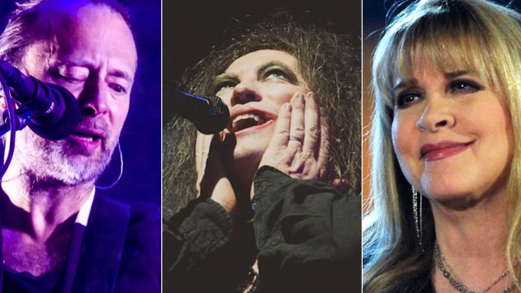 Radiohead (Lior Phillips), The Cure (Debi Del Grande), and Stevie Nicks