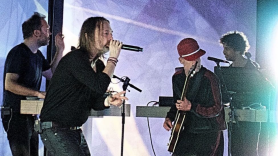 Watch video Atoms For Peace reunion at Orpheum Theatre