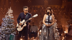 """Watch video She & Him """"The Christmas Song"""" on James Corden"""