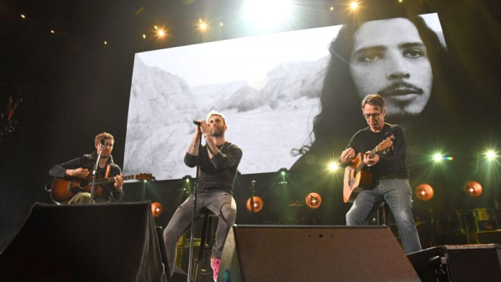 Jesse Carmichael, Adam Levine and Stone Gossard, I Am The Highway: A Tribute To Chris Cornell, photo by Kevin Mazur/Getty Images for The Chris Cornell Estate
