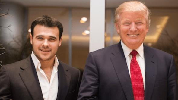 Emin Agalarov and Donald Trump
