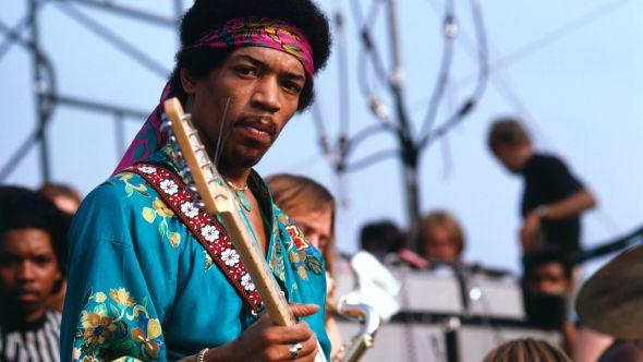 Jimi Hendrix at Newport Pop Festival