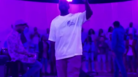 Watch video of Kanye West performing G.O.O.D. Sunday Service orchestra