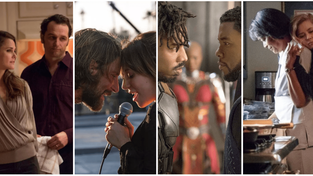 The Americans, A Star is Born, Black Panther, Sharp Objects