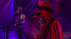 "Claypool Lennon Delirium ""Blood and Rockets"" Colbert video performance"