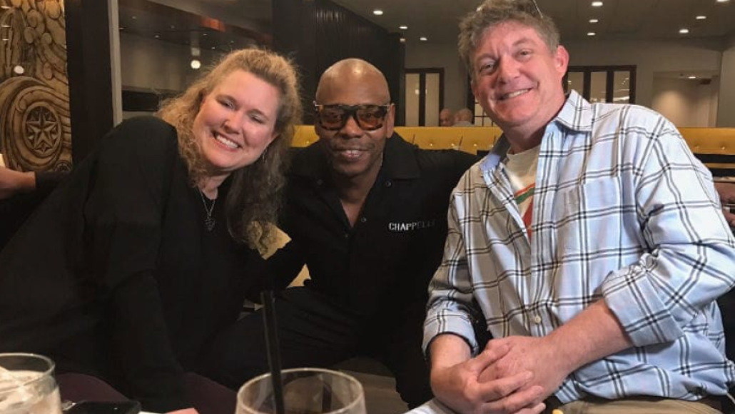 Dave Chappelle with fans