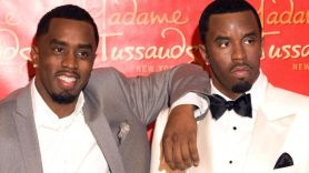 """Sean """"Diddy"""" Combs with his Madame Tussauds wax statue"""