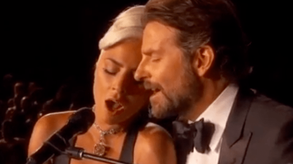 """Lady Gaga and Bradley Cooper performing """"Shallow"""" at Oscars"""