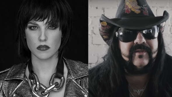 Lzzy Hale and Vinnie Paul