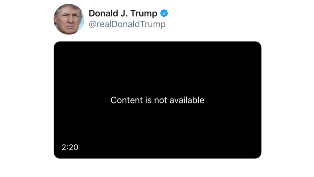 """Trump's """"Everybody Hurts"""" video removed"""