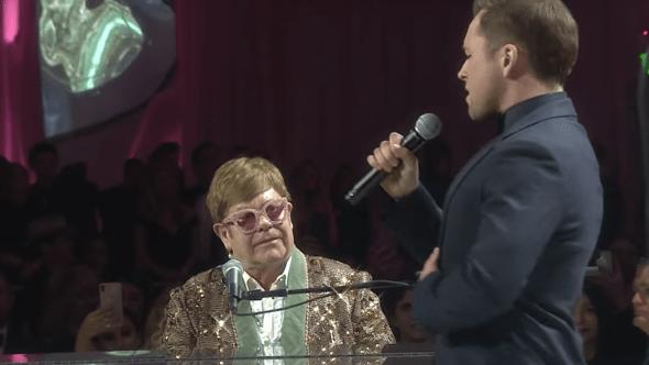 Elton John, Taron Edgerton, AIDS Foundation, 2019 Oscars, Rocketman
