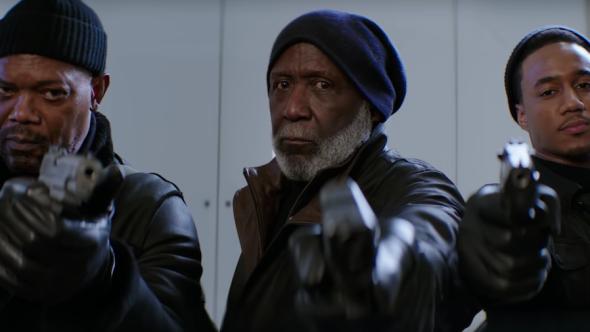 Samuel L. Jackson, Richard Roundtree, Jessie T. Usher, Shaft, New Line Cinema