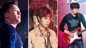 k-pop sex scandal texting Big Bang's Seungri (photo via Riality), Jung Joon-young (photo via 147 Company), and FTISLAND's Choi Jong-hoon (photo via Teokki (Rokiei))
