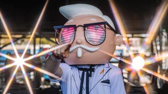 Colonel Sanders at Ultra Music Festival