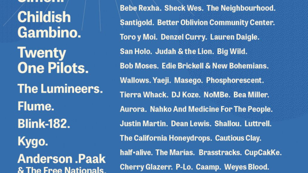 Outside Lands 2019 lineup fixed