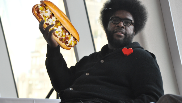 Questlove impossible cheesesteak sandwich Joe Mabel