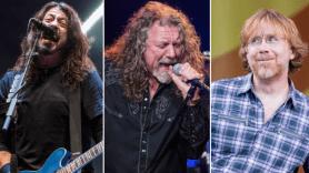 Foo Fighters (David Brendan Hall), Robert Plant (Hall), Trey Anastasio (Paul R. Giunta)