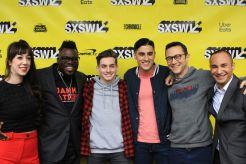 Band Together with Logic, SXSW, Red Carpet Photo, Marybeth Kern, Lamar Jones, Joshua Driskell, Ariea Bastami, Joseph Gordon-Levitt, Luciano Nascimento