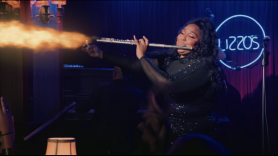 Lizzo The Legend of Lizzo Flute and Shoot Challenge Anchorman Ron Burgundy Will Ferrell