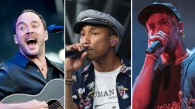 Dave Matthews Band, Pharrell (Nathan Dainty), and Travis Scott (Amy Price)