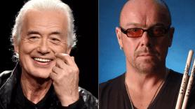 Jimmy Page and Jason Bonham
