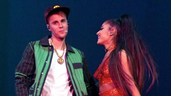 Justin Bieber and Ariana Grande at Coachella