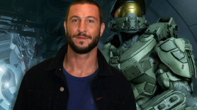 Pablo Schreiber (photo by Heather Kaplan) and Halo's Master Chief Showtime casting