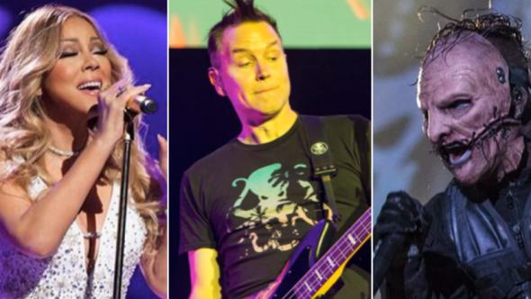Mariah Carey, Blink-182 (Philip Cosores), Slipknot (David Brendan Hall)
