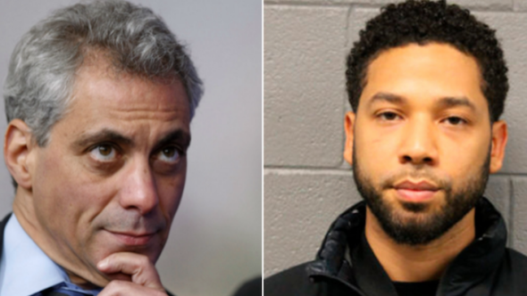 Rahm Emanuel and Jussie Smollett $130000 hate crime investigation lawsuit