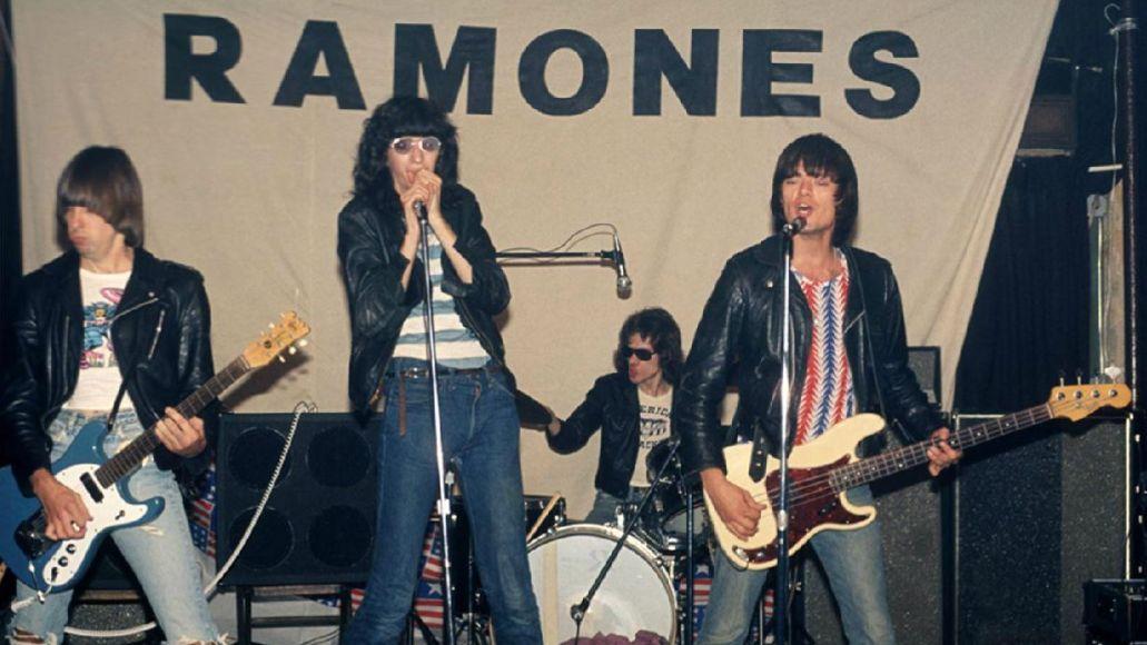 Ramones at Performance Studios, 1975, photo by Bob Gruen