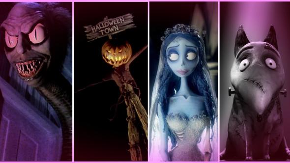 Beetlejuice, A Nightmare Before Christmas, The Corpse Bride, Frankenweenie