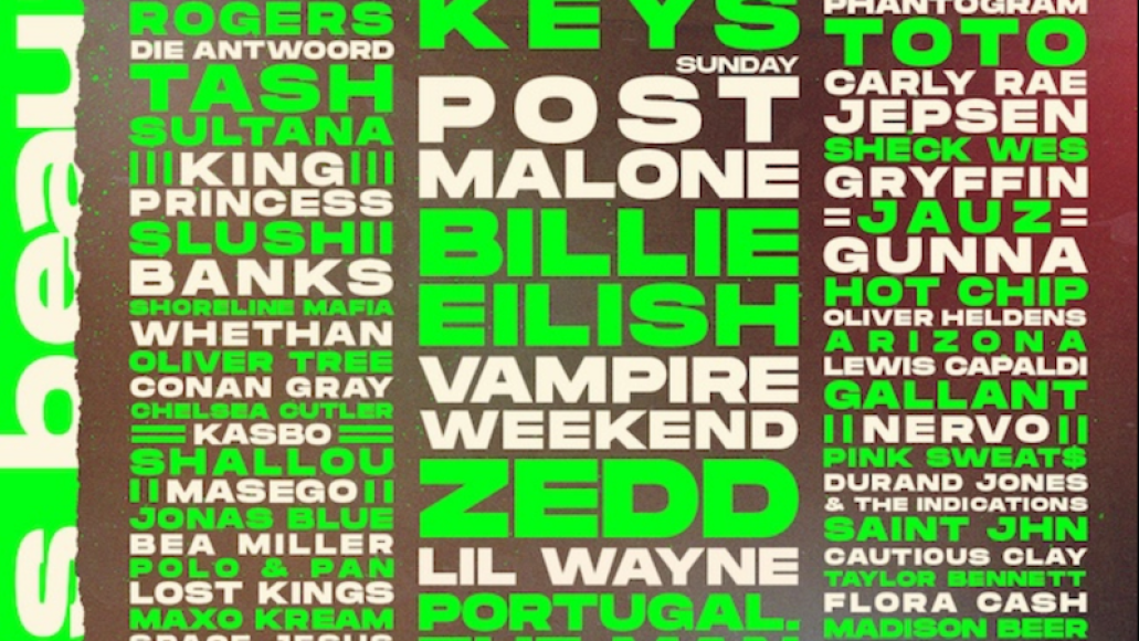 life is beautiful 2019 lineup poster