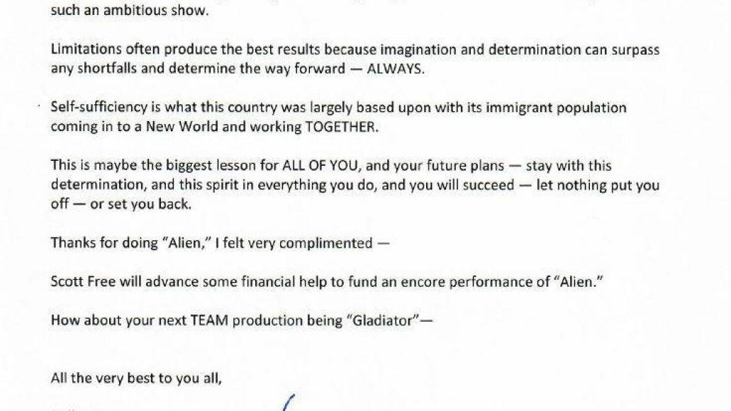 ridley scott Sigourney Weaver surprises high school cast of Alien: The Play during encore performance: Watch