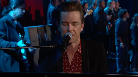 """The Killers """"land of the free"""" live debut performance video Jimmy Kimmel Live"""